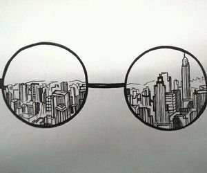 B&w clipart city pencil holder graphic library Note: Art Project fill lenses with things you love | Art | Tumblr ... graphic library