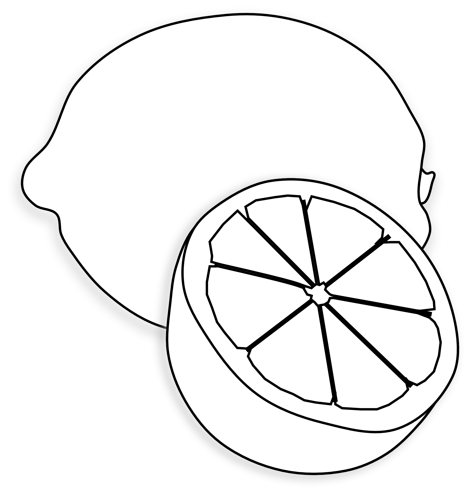Lemon with leaf clipart black and white image download Lemon clipart black and white #18 | ΕΣΠΕΡΙΔΟΕΙΔΗ | Drawings, Fruit ... image download