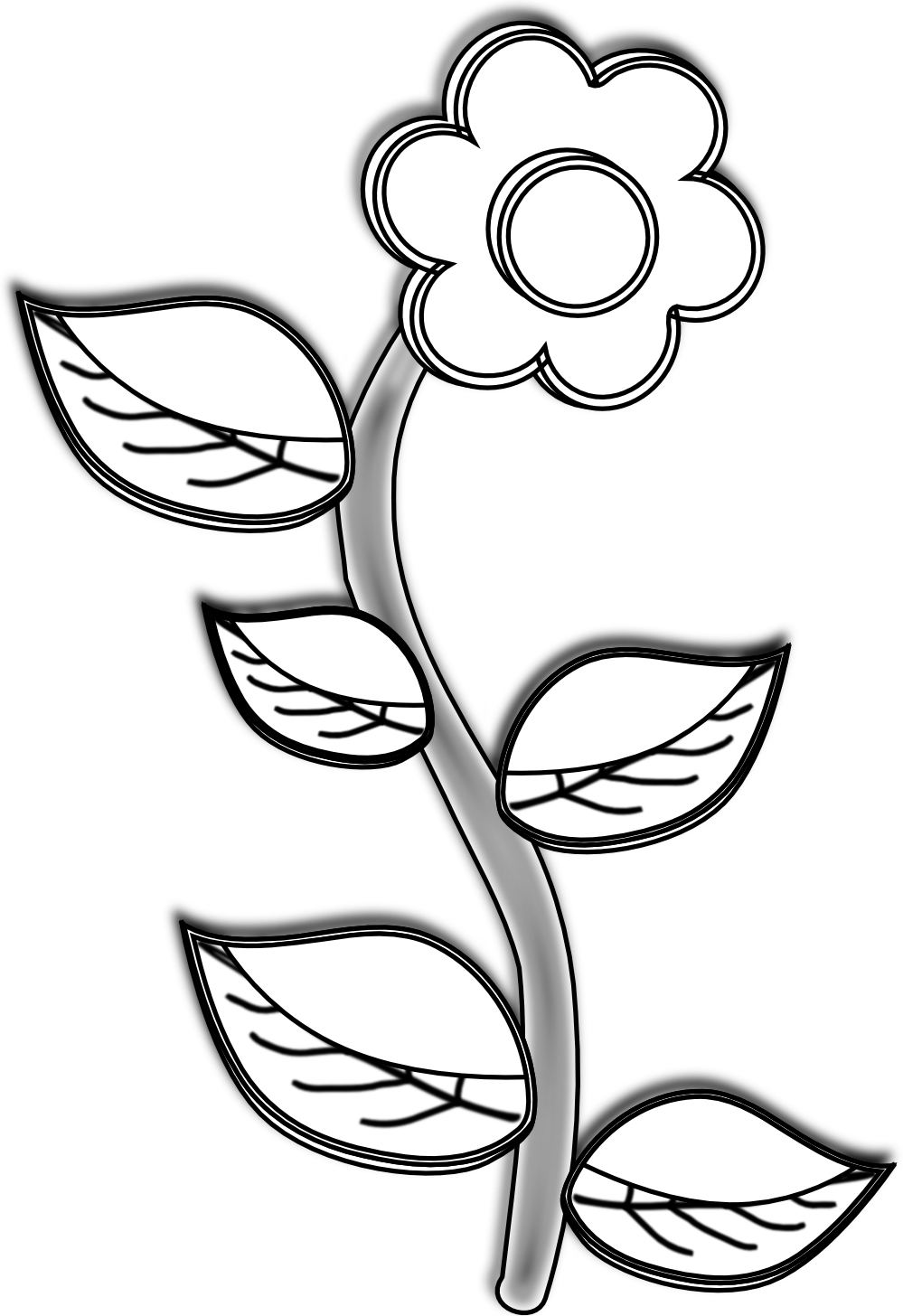 Bw clipart drawing stock Free Pictures Of Flower Drawings, Download Free Clip Art, Free Clip ... stock