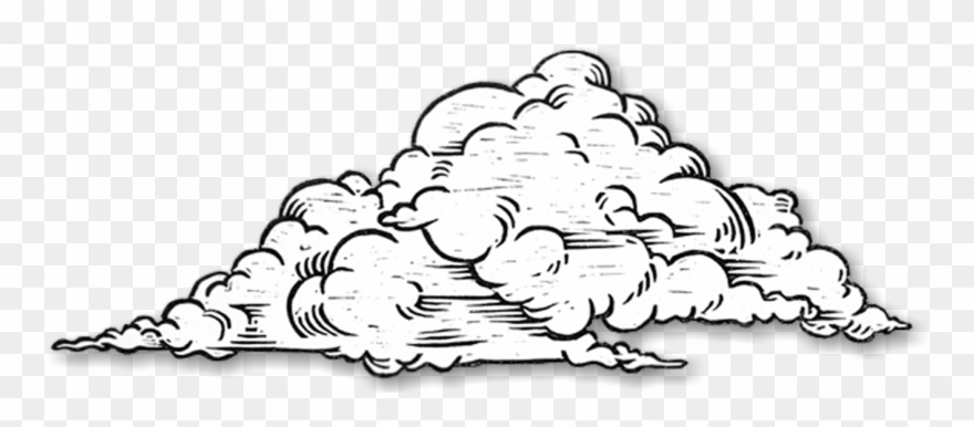 Bw clipart drawing clipart free library Clouds Clipart Sketch - Clouds Black And White Drawing - Png ... clipart free library