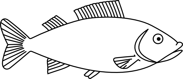 Bw clipart drawing svg transparent library Easy long Fish Drawings | Fish Outline 3 clip art | 4-H Projects ... svg transparent library