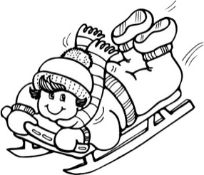 Sled clipart black and white clip art transparent library Sledding Clipart | Free download best Sledding Clipart on ClipArtMag.com clip art transparent library