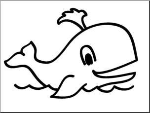 W whale clipart clip transparent library Clip Art: Basic Words: Whale B&W Unlabeled I abcteach.com | abcteach clip transparent library