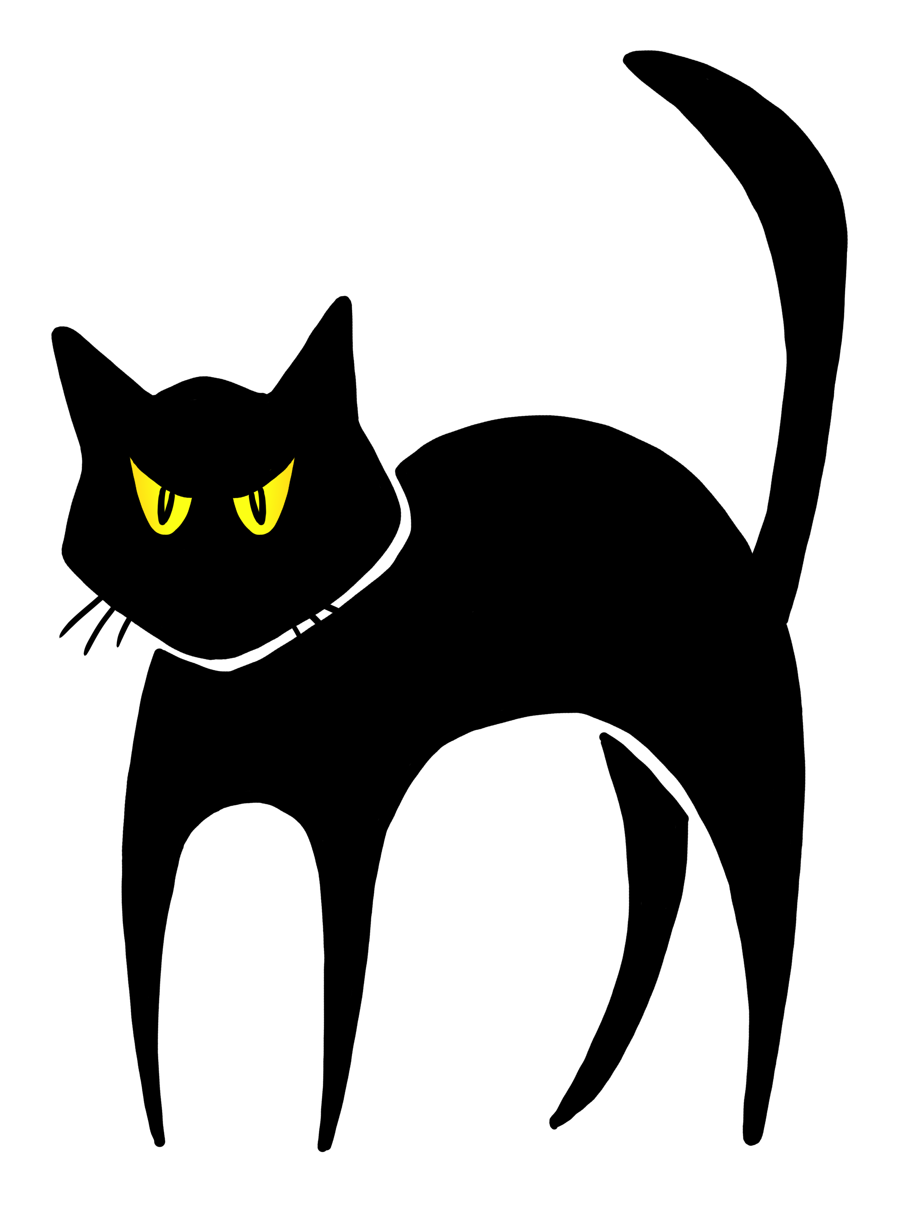 Scared cat clipart