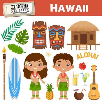 Bw map hawaii clipart transparent Hawaii Clip Art & Worksheets | Teachers Pay Teachers transparent