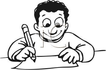 Free black and white clipart writing clip library download Kids Writing Clipart Black And White | Clipart Panda - Free Clipart ... clip library download