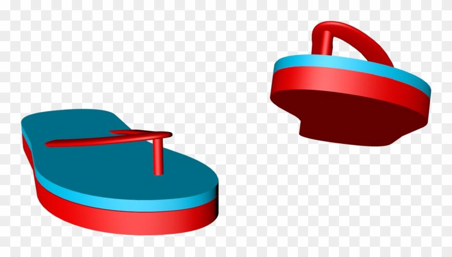 C4d clipart vector stock C4d Simples Azul Vermelho Flip Flop Cartaz - Dinghy Clipart ... vector stock