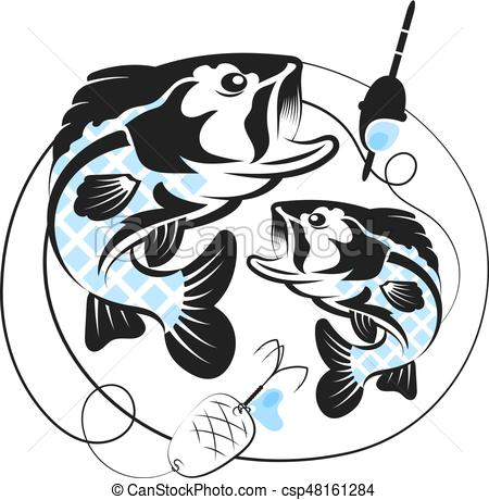 Ca+-a de pescar clipart svg freeuse Silhouette of fish for fishing svg freeuse