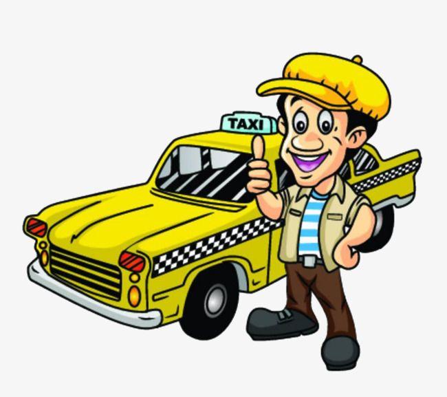 Cab driver clipart clip art freeuse Cartoon Yellow Taxi, Cartoon Clipart, Taxi Clipart, Taxi PNG ... clip art freeuse
