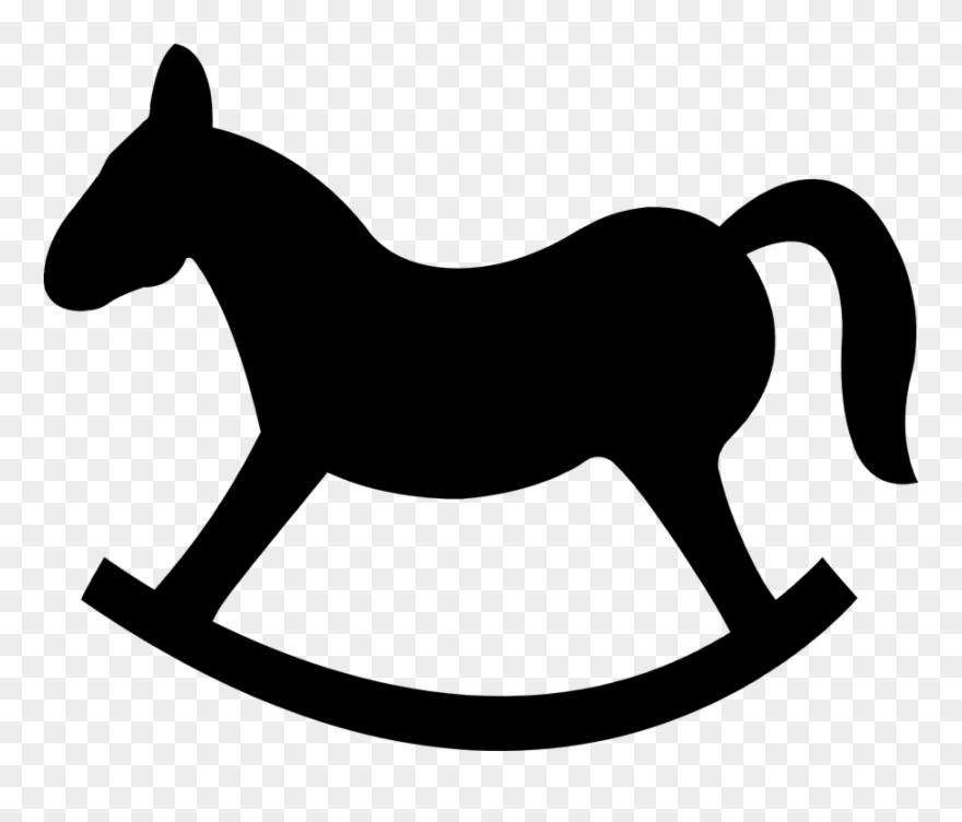 Cabeca de cavalo clipart banner free library Rocking Horse Silhouette 101 Clip Art - Cavalo De Madeira Desenho ... banner free library