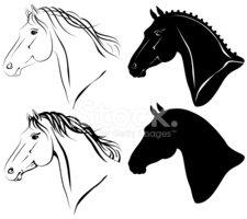 Cabeca de cavalo clipart clip transparent download Conjunto DE Cabeças DE Cavalo imagens vetoriais - Clipart.me clip transparent download