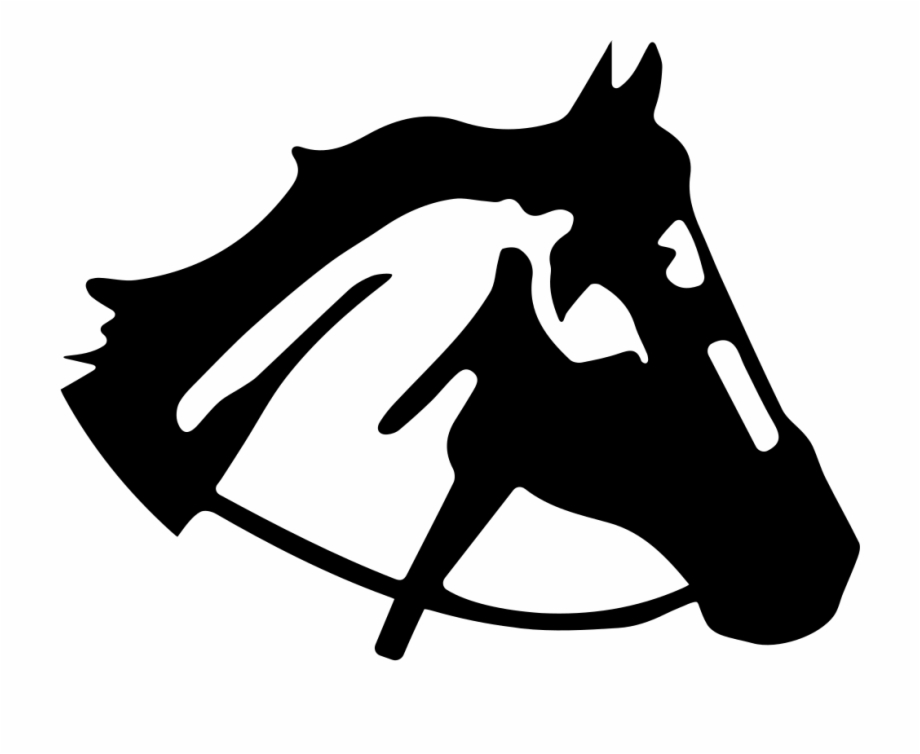 Cabeca de cavalo clipart banner transparent stock Horse Head Right Side View Silhouette Comments - Cabeça De Cavalo ... banner transparent stock