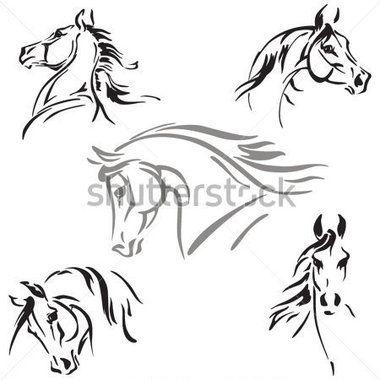 Cabeca de cavalo clipart image black and white Pinterest image black and white