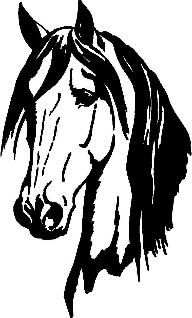 Cabeca de cavalo clipart clip black and white download Got Cows Cutting Horse Vinyl Window Decal Car Stickers - ClipArt ... clip black and white download
