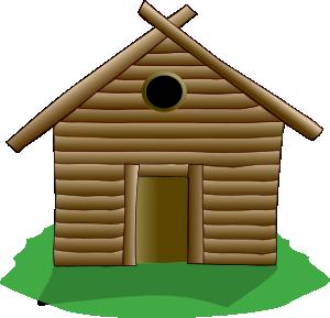 Cabin clipart jpg stock Log Cabin Clip Art at Clker.com - vector clip art online, royalty ... jpg stock