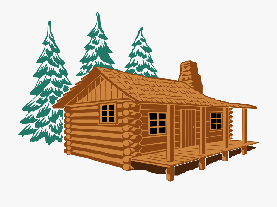 Cabin clipart banner black and white Showing Post & Media For Log Cabin Clip Art Cartoon - Cabin Clipart ... banner black and white
