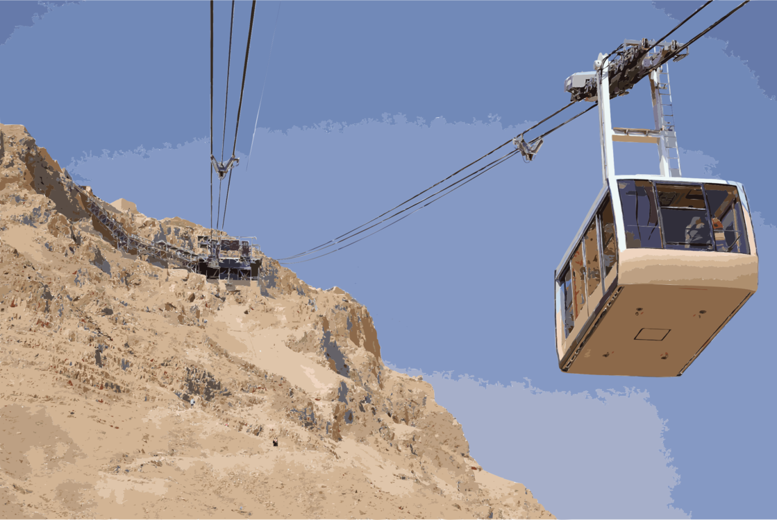 Cable car clipart clipart library download Masada cableway Cable car Aerial tramway Siege of Masada Metsada ... clipart library download