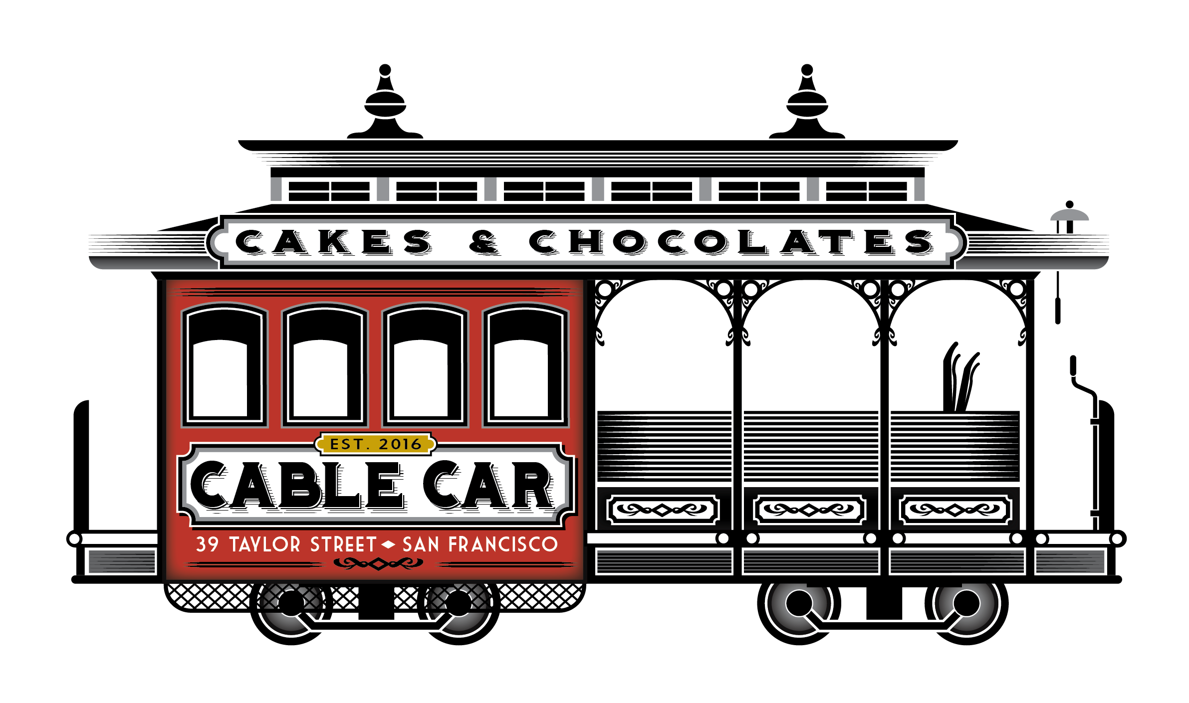 Street car clipart clipart library stock Cable Car Cakes and Chocolates - HOME clipart library stock