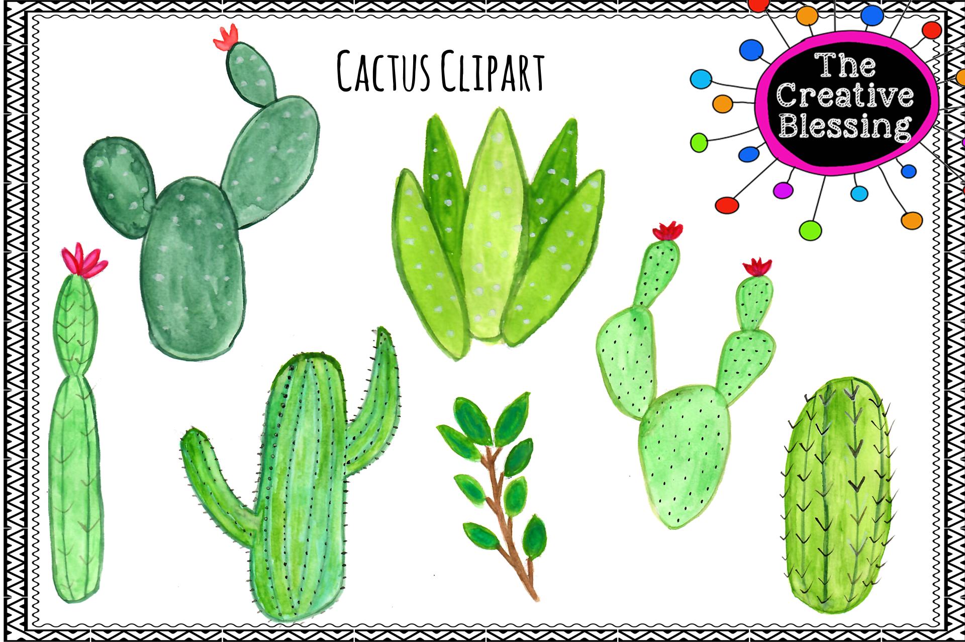 Cacttus clipart clipart Watercolor Cactus Clipart clipart