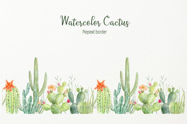 Cactus clipart border download Watercolor cactus clipart, detailed botanial cactus graphics, desert cacti  and flowers for instant download download