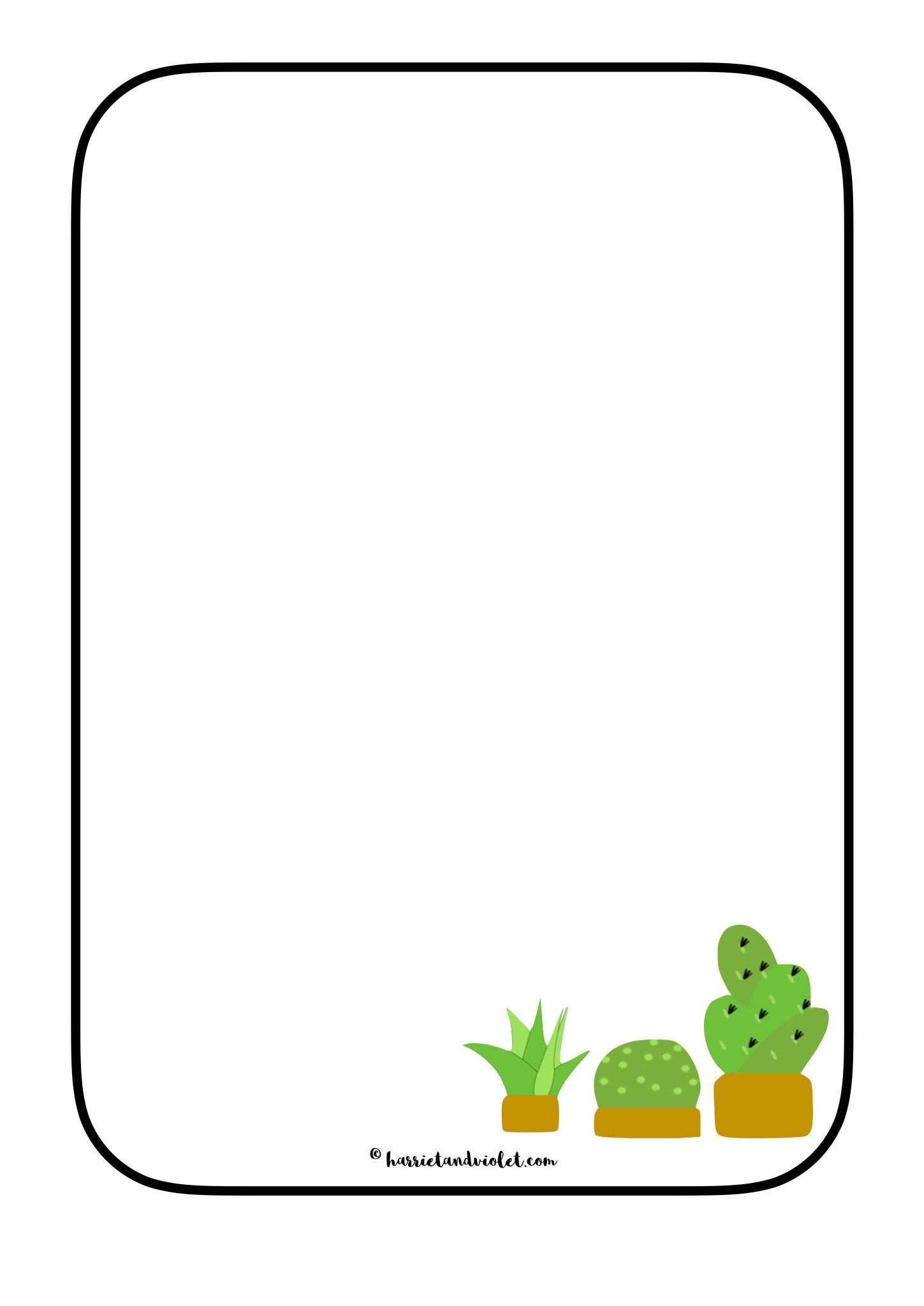 Cactus clipart border image Cactus Plant Border Paper - Free Teaching Resources | EYFS + Primary ... image