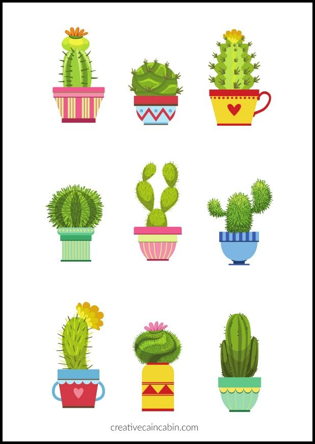 Clipart cactus free vector free Largest FREE Printable Selection | PRINTABLES | Cactus, Cactus wall ... vector free