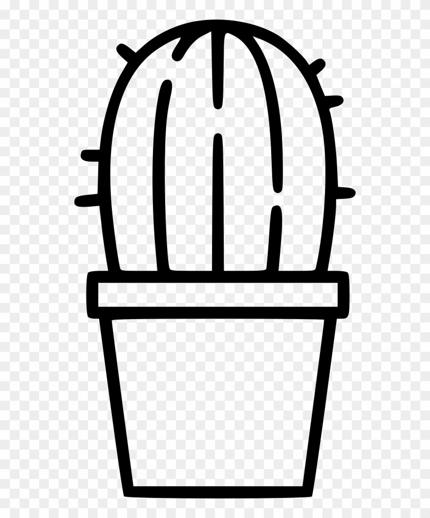 Cactus outline clipart graphic library download Outline Clipart Cactus - Png Download (#2699180) - PinClipart graphic library download