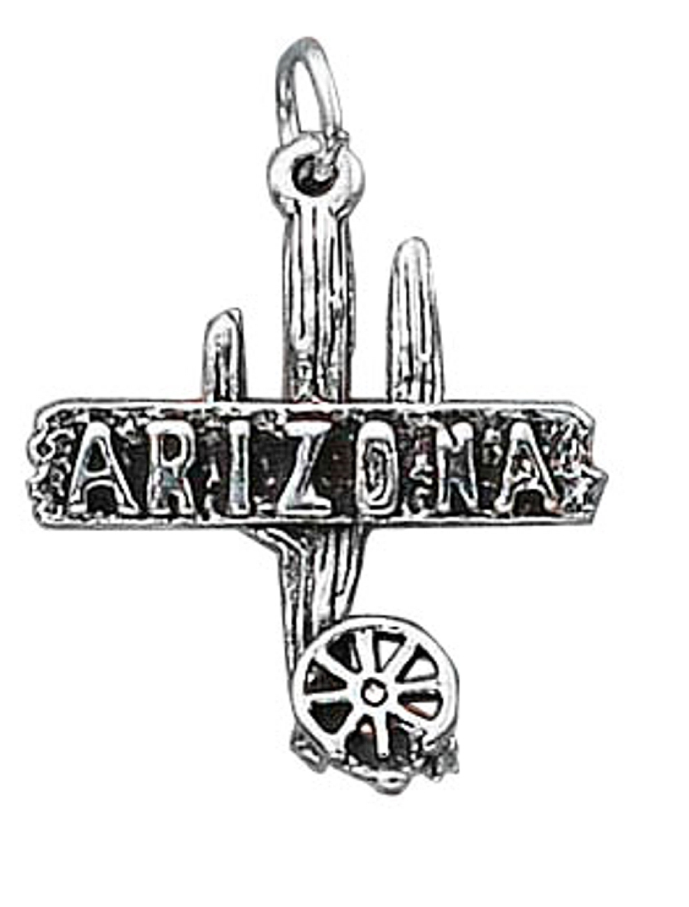 Cactus wagon wheel clipart image transparent Sterling Silver 30\