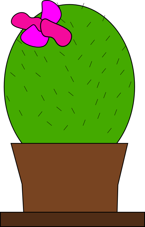 Cactus with flower clipart png transparent stock clipartist.net » Clip Art » cactus SVG png transparent stock