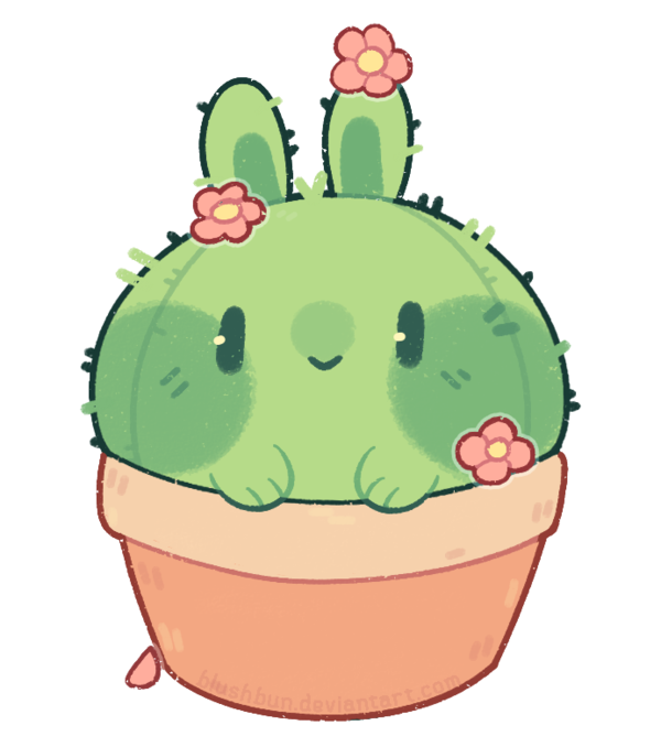 Cactus with flower clipart clipart library p]: cactus bun by blushbun.deviantart.com on @DeviantArt | jubchay ... clipart library