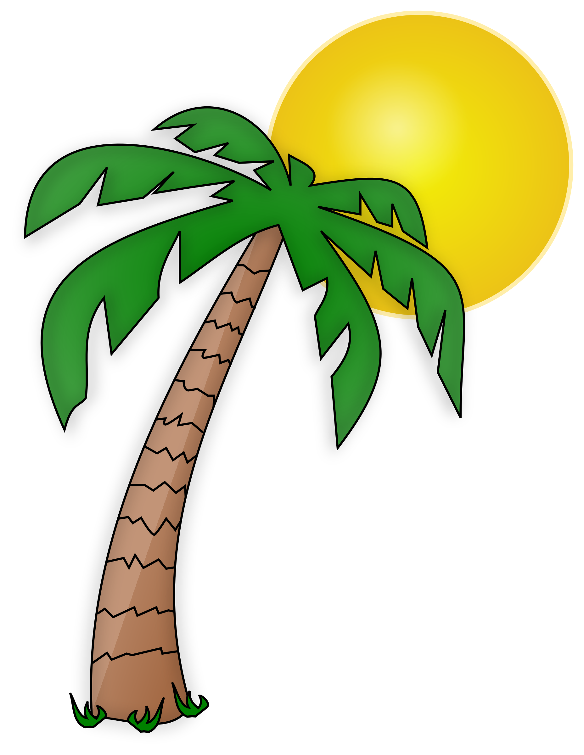 Palm tree sun clipart vector free download Desert Plants Clipart at GetDrawings.com | Free for personal use ... vector free download
