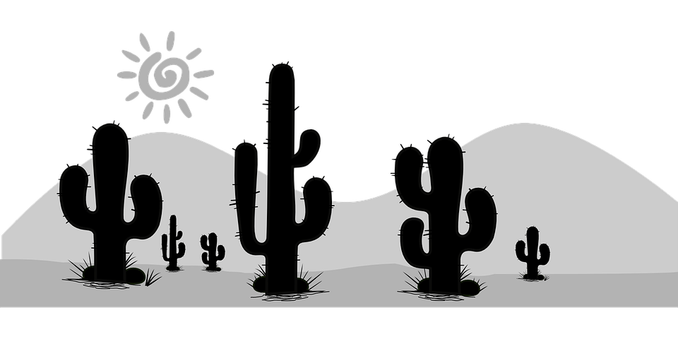 Cactus with mountains and sun clipart jpg royalty free library Imagem gratis no Pixabay - Cacto, Cactos, Deserto, Flora   Pinterest ... jpg royalty free library