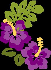 Cadena de flores clipart image black and white library plum hibiscus clip | creaciones abby | Flores hawaianas, Como pintar ... image black and white library