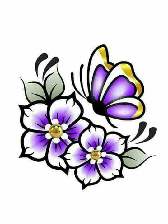 Cadena de flores clipart image library Pin de Teresa Cadena en Flores | Dibujos de flores, Dibujos para ... image library