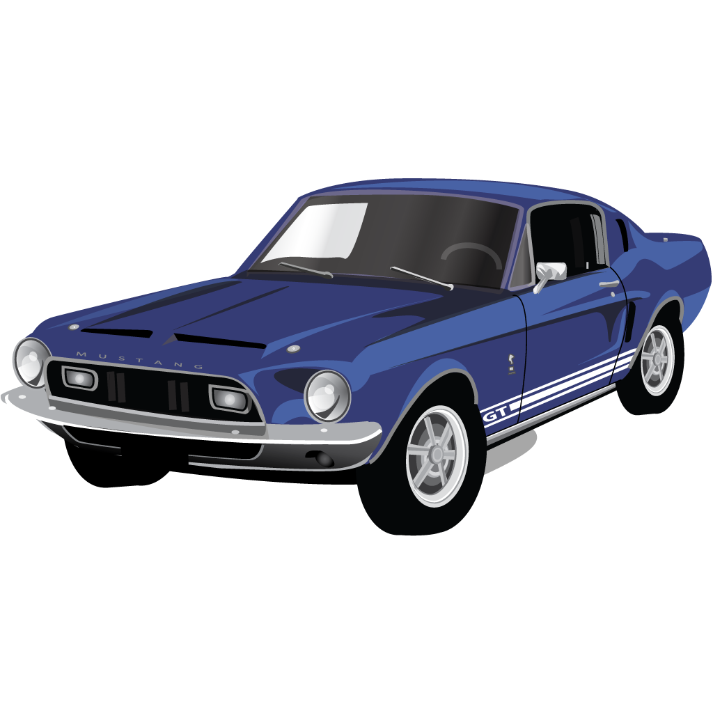 Muscle car clipart vector vector black and white download Muscle Car Clipart Image Group (67+) vector black and white download