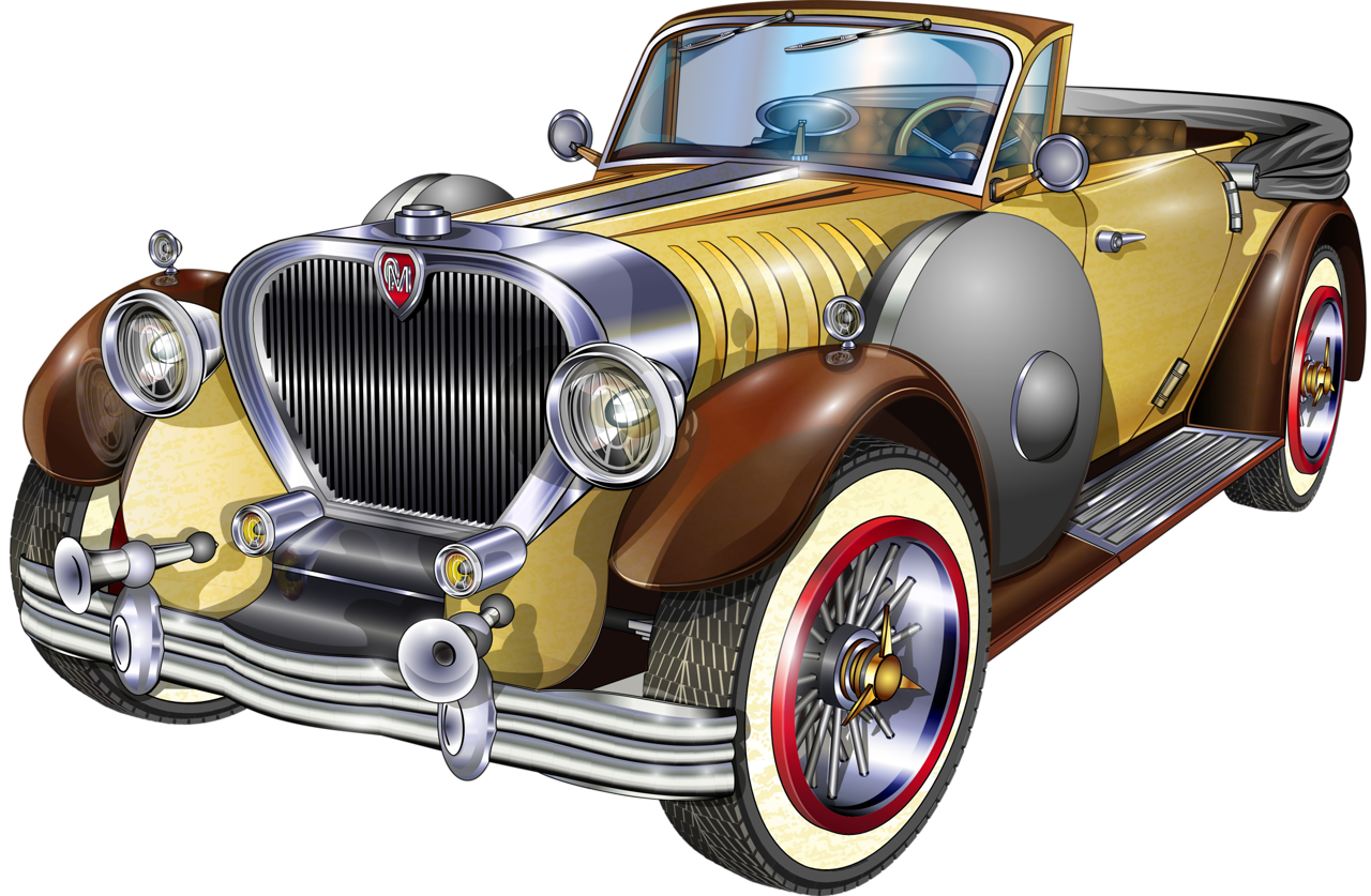 Cadillac classic car clipart vector library library shutterstock_200429591 [преобразованный].png | Pinterest | Cars, Car ... vector library library