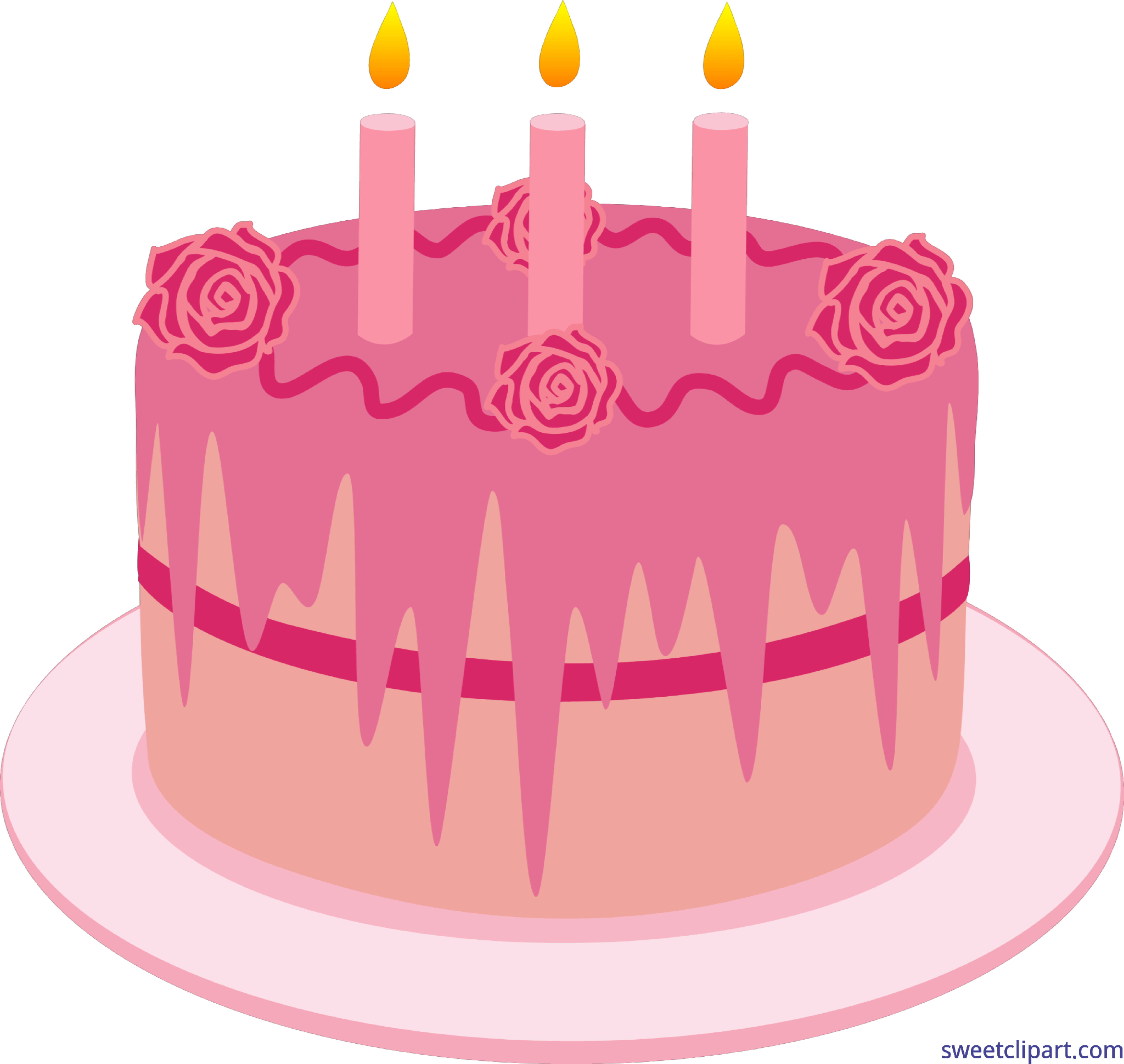 Cadles and cakes with pink candles clipart images image free stock Birthday Cake Candles Strawberry Clip Art - Sweet Clip Art image free stock