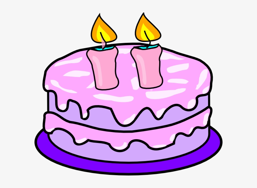 Cadles and cakes with pink candles clipart images graphic royalty free stock Birthday Cake Clipart Candle - Birthday Cake Two Candles Transparent ... graphic royalty free stock