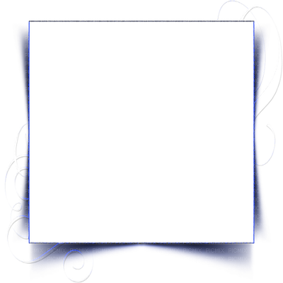 Cadre bleu clipart png black and white stock cadre bleu transparent frame blue - PicMix png black and white stock