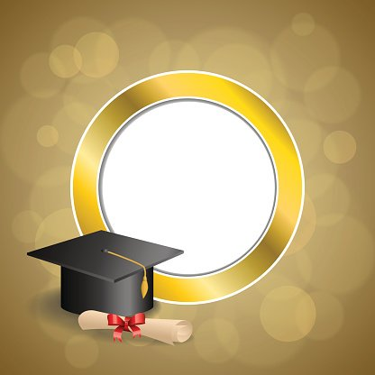 Cadre diplome clipart clipart library stock Cadre DE Cercle OR Fond Beige Éducation Graduation Cap Diplôme Bow ... clipart library stock