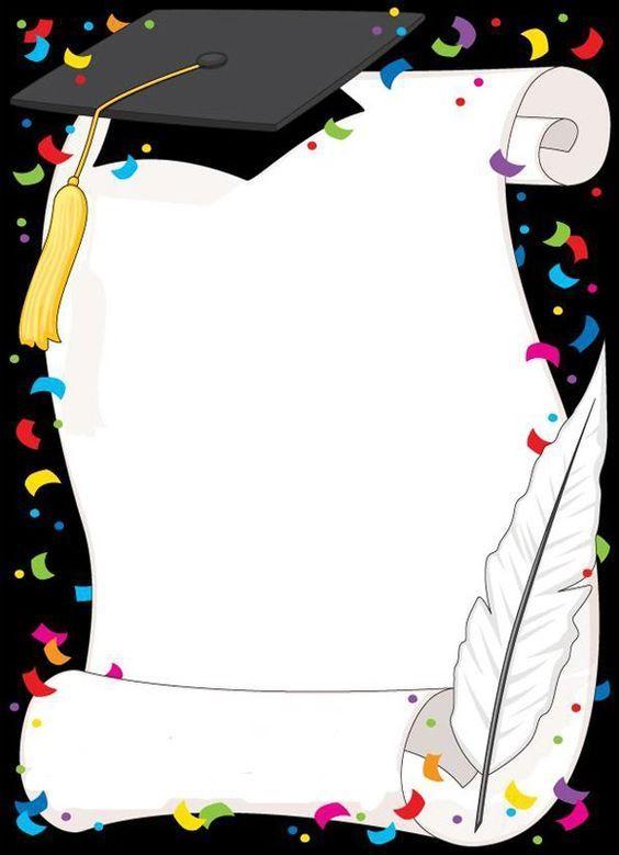 Cadre diplome clipart jpg royalty free library cadre diplôme | Borders | Graduation invitations, Preschool ... jpg royalty free library