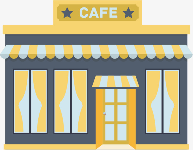 Cafe clipart images banner stock Cartoon Cafe Hut Clipart PNG Peaceful Caf Genuine 5 | www ... banner stock