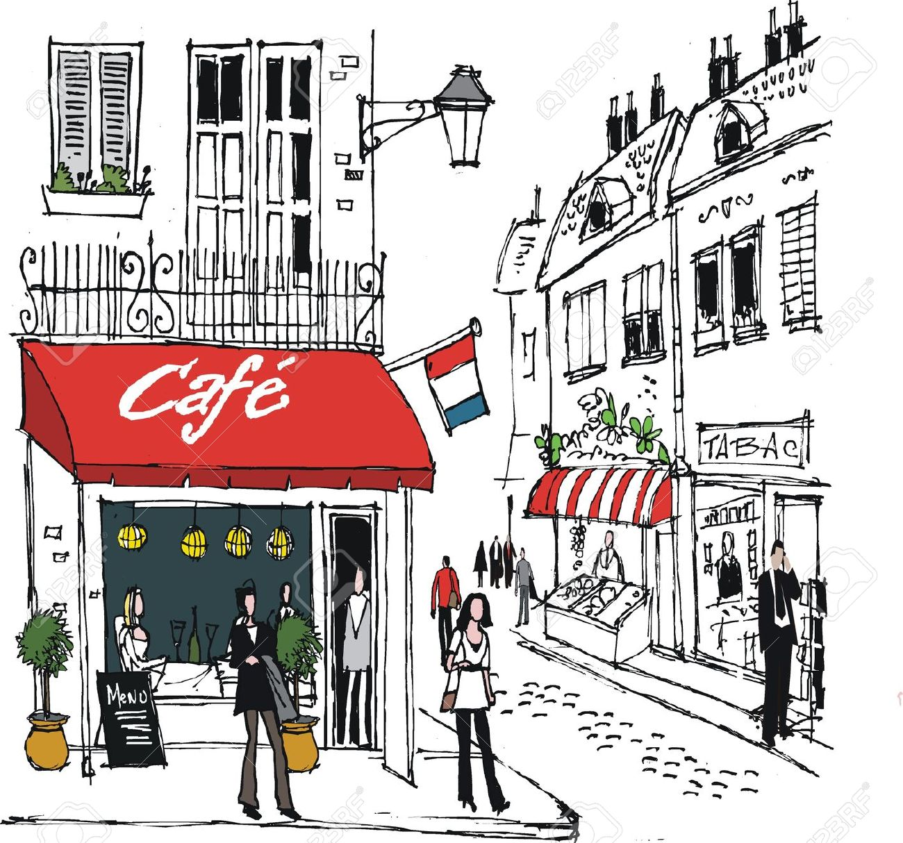 Cafe clipart images stock French Cafe Clipart | Clipart Panda - Free Clipart Images stock