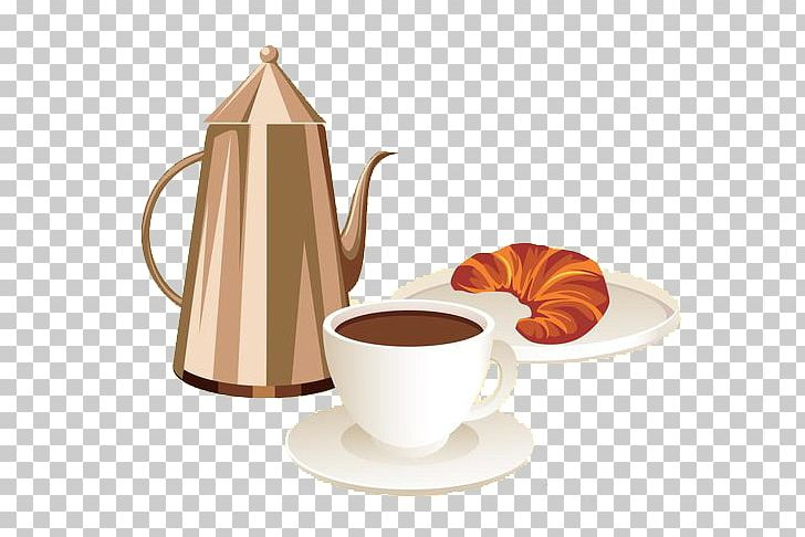 Cafe et baguette clipart banner royalty free Coffee Croissant Breakfast Cafe Bakery PNG, Clipart, Caffeine ... banner royalty free