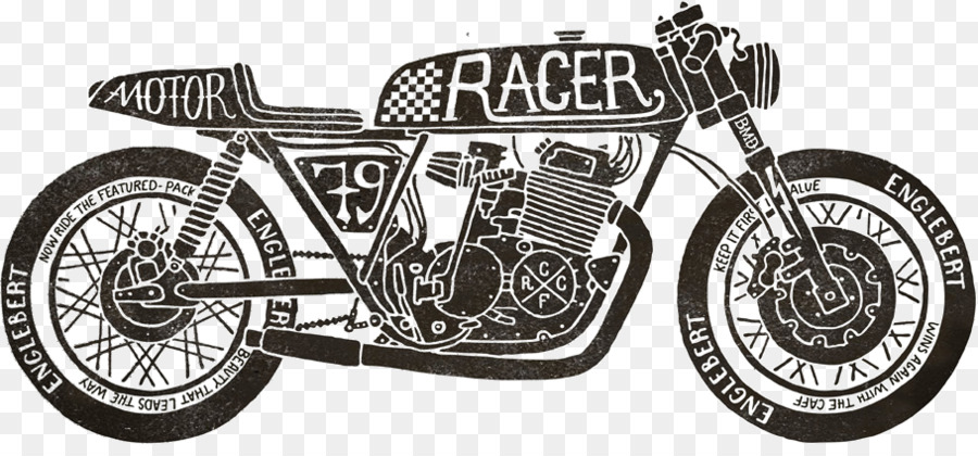 Cafe racer clipart image free download Black And White Frame clipart - Motorcycle, Car, Font, transparent ... image free download