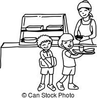 Cafeteria clipart black and white free stock School cafeteria clipart black and white » Clipart Station free stock
