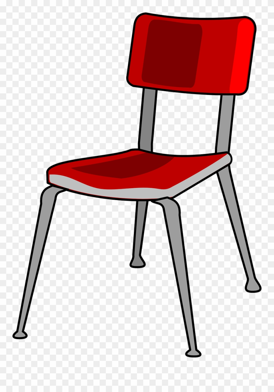 Transparent chair clipart png freeuse stock Chair Red Metal Free Vector Graphic On Pixabay School - Chair Clip ... png freeuse stock