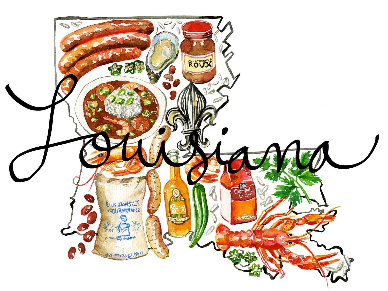 Cajun food clipart vector freeuse stock Missing Louisiana: 8 Ways I Bring the Bayou State Home | Serious Eats vector freeuse stock