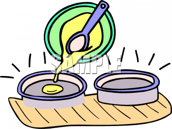 Cake batter clipart vector library download Clipart Picture of Pouring Cake Batter into Pans - foodclipart.com vector library download