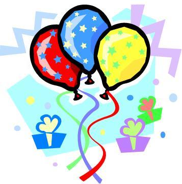 Cake birthday clipart image Birthday Cake And Balloons Clipart - Clipart Kid image